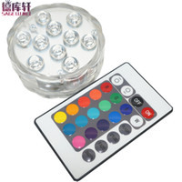 batteriebetriebene led-lichtbasis großhandel-4 satz Led Tauchlicht Batteriebetriebene 5050 RGB chips Wasserdicht IP68 Vase Basis Licht Helle Lampe Blub Home Party Supplies