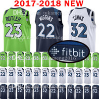 Wholesale butler jerseys - 2018 New Men's MINNESOTA 22 Andrew Wiggins 23 Jimmy Butler Jersey TIMBERWOLVES 32 Karl-Anthony Towns stitching Jerseys