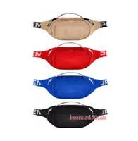 Wholesale men european shoulder bags resale online - 18SS Waist Bag M th Sup Unisex Fanny Pack Fashion Waist Men Canvas Hip Hop Belt Bag Men Messenger Bags AW Small Shoulder Bag M New