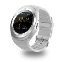 tarjetas de visita redondas al por mayor-Y1 Smart Watch Round Support Nano Tarjeta SIM TF con Bluetooth 3.0 Hombres Mujeres Negocios Smartwatch Para IOS Android