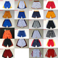 Wholesale xxl sweatpants - Basketball Shorts Men's Shorts New Breathable Sweatpants Teams Classic Sportswear Wear Embroidered Logos Cheap Sports Shirts, Free Shipping