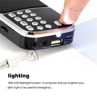 ingrosso torce elettriche digitali-Y-501 FM Radio Portable Digital Audio Player audio Speaker LED Torcia Supporto TF Card USB AUX 100% nuovo marchio di alta qualità