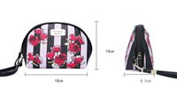 Wholesale Makeup Train Cases - Love Pink Cosmetic Makeup Bag Train Case Classic Portable Double Zipper Make Up Storage Wash Bag Cases Multifunction Pouch for Women
