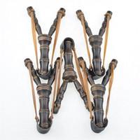 ingrosso germogli di bambù-Fionda di legno Bamboo Originalità Giochi di novità Catapulta di legno Puntelli da caccia Stile Sling Shot Giocattoli Bow New Arrive 2gl Z
