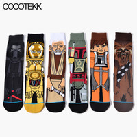Wholesale warmer socks - Wholesale- New Cartoon Anime Mens Socks Long Winter Warm Socks Male Crazy Dress Socks Drop shipping Fashion Brand Designer to Build Gifts