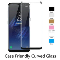 Wholesale Matte Glasses - For Samsung S9 S8 Plus Galaxy S7 Edge Note 8 Full Coverage 3D Curved Tempered Glass Screen Protector with Retail box