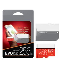Wholesale Orange Class - EPacket Shipping 256GB 128GB Class 10 EVO PRO Plus Blue Red Orange White Micro SD TF Cards with Free SD Adapter Blister Retail Package