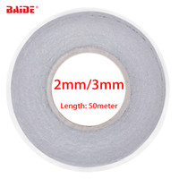 Wholesale 2mm double sided tape - Original 2mm 3mm Black Double Side Adhesive Tape for Mobile Phone Touch Screen LCD Display Glass Repair Length 50meter Reel