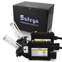 kit de xenon 881 al por mayor-Safego 55W hid xenon kit de luz H7 H4 H1 H3 H8 H9 H10 H11 H13 880 881 H27 9004 9005 9006 kit de conversión hid 4300K 6000K 8000k