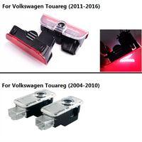 2pcs LED Door Warning Light Laser Logo Projector welcome lamp For VW new Touareg 2011-2017 old Touareg 2004 - 2010