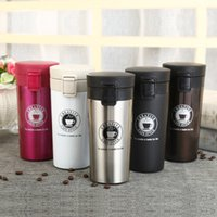 Wholesale Tea Bottle Thermos Flask - 380ml Stainless Steel Cups Double wall Mug For Tea Insulated Thermos Tea Milk Coffee Car Travel Bottle Vacuum Flasks Mug YYA1135
