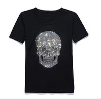 corea del pop al por mayor-2018 Vetements Oversized Heavy Metal Back Side Skull Print Corea Pop Up Oversize Short Sleeve Hombres Camiseta de algodón Tee