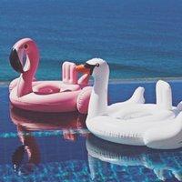 menino inflável venda por atacado-Flamingo bonito Piscina Inflável Anel Flutuador Assento Piscina Crianças Swimtrainer Voltas Criança Menino Meninas Piscine Bebê Swim Anel Swan Brinquedo