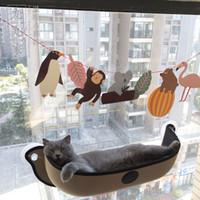 lits hamacs de chat achat en gros de-Ventilateur de lit de chat hamac montent les coupes d'aspiration de pod de lit chaud pour le chat d'animal familier la cage de furet molle et confortable