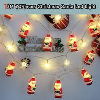 Wholesale Ma Year - Wholesale-TOFOCO 3M 20pcs Santa Claus Plastic LED Christmas Icicle Pandant Flashing Toy Gift X-mas Decoration DIY Warm Light