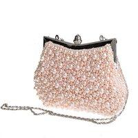 bride bag achat en gros de-2017 Nouvelle Mode Vintage Perlé Sac de Soirée Brodé Sac Diamant Pailleté Embrayage Main Bride Livraison Gratuite WY66