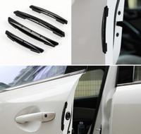 sipariş arabası toptan satış-4 adet / takım Araba Evrensel Esnek Şekillendirici Kapı Kenar Koruyucusu Tampon Araba Oto kapı Anti Çarpışma Guard VW Audi BMW Jetta Honda Mazda Için Fit