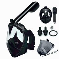 mergulho subaquático venda por atacado-2018 máscara de mergulho quente máscara de mergulho subaquática anti nevoeiro rosto cheio de snorkel mulheres homens crianças natação snorkel equipamentos de mergulho