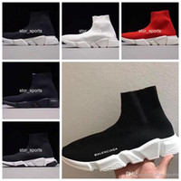 Wholesale new brand high quality cotton woman for sale - 2018 New Paris Men Women Shoes Socks Shoes Speed Trainers Running Shoes With box High Quality Brand Designer Sport Sneakers Eur