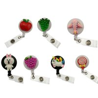 Wholesale wrought plate for sale - Group buy ID Name Card Badge Reel Working Nurse Medical Holder Unicorn Apple Grapes Rabbit Lollipop airplane