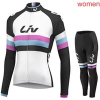Wholesale team cycling clothing sale for sale - Group buy LIV team Cycling long Sleeves jersey bib pants sets cycling jersey sets Spring Autumn sport suit Hot Sale Bikes Clothes c1411