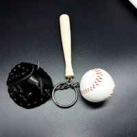 Wholesale wholesale bags old keys online - Cool Sports Toys Baseball Cool Funny Ball Keychain Charm Chain Pendant Cell Phone Bags Key Rings