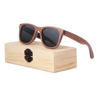óculos de sol personalizados venda por atacado-2018 venda direta da fábrica de skate quente de madeira óculos de sol pode personalizar o LOGOTIPO de bambu e óculos de sol de madeira