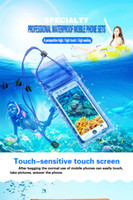 Wholesale underwater pouch for phone for sale – best Waterproof Underwater PVC Package Pouch Diving Bags For iPhone Outdoor Mobile Phone Pocket Case For Samsung Xiaomi HTC Huawei