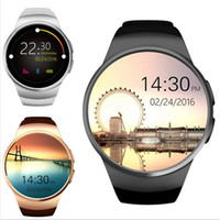 круглый набор интеллектуальных часов оптовых-kw18 MTK2502C 1.3inch IPS Round Dial smart watch full screen Support SIM/TF Card Smartwatch Phone Heart Rate for Android IOS