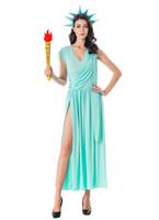 cosplay romano sexy venda por atacado-2018 Mulher Deusa Grega Lady Liberdade Zeus Soldados Romanos Traje Cosplay Adultos Hallowmas Vestido de Festa Decoração Purim sexy