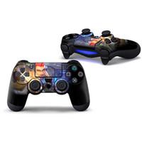 кожаный винил ps4 оптовых-Горячая игра Fortnite PS4 контроллер кожи, Fortnite Королевская битва винил игровой контроллер наклейки для Sony PS4 PlayStation 4 консоли наклейка