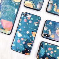 Wholesale Custom Iphone Paint - Fashion Blu-Ray Space Graffiti Oil Painting Style Soft TPU Phone Shell Laser Case For iPhone X 8 7 6 Plus Support Custom Pattern