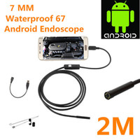 Wholesale Video Snake - 2018 New Mini Camera IP67 Waterproof USB Android Endoscope Borescope Snake Inspection Video Camera 7mm diameter Lens