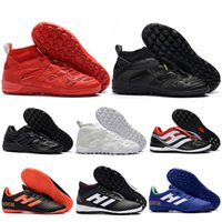 Wholesale Precision Flat - Mens High Ankle Football Boots Predator Accelerator DB IC TF Soccer Shoes Predator Precision Tango 18.3 18.4 Indoor Turf Soccer Cleats
