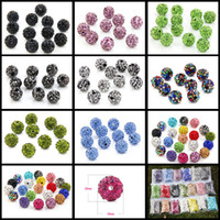 Wholesale making clay beads - 28 Colors 10mm Ceramic&Rhinestone Beads Luxury Beads for Jewelry Making DIY Jewelry for Women Mens Bracelet Necklace Choker