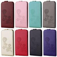 stieg gemusterter iphone fall großhandel-Für Samsung S8 Plus Wallet Case Rose Muster S7 Rand Fällen Telefon Shell PU Leder Kartensteckplatz Opp Bag