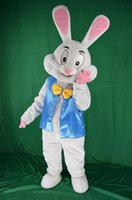 Wholesale White Easter Bunny Costume - 2018 Factory sale hot Easter bunny mascot costume fancy dress funny animals bugs bunny mascot adult size rabbit mascot costume