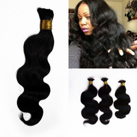 Wholesale 24 human braiding hair for sale - Group buy Indian Body Wave Hair Bulk For Bundles Human Braiding Hair Bulk Natural Color Top Quality Bulk FDSHINE