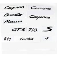 Wholesale Porsche Stickers - For Porsche Boxster Cayman Cayenne Macan 911 Carrera Turbo GTS S 4 718 Number Letter ABS plastics Rear Tail Trunk Emblem sticker Decal