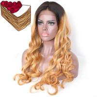 ingrosso lunghe parrucche colorate-Parrucca 100% non trattata, capelli umani vergini remy, capelli biondi, lunghi capelli colorati, parrucca per le donne