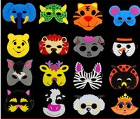 masque de matériau achat en gros de-Belle Bande Dessinée Animale Masque EVA Mousse Matériel Qualité Vizard Masques Maternelle Afficher Visage Fête De Noël Fournitures Prop 0 72cl Y