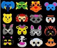 ingrosso maschera materiale-Lovely Cartoon Animal Mask EVA Materiale espanso Qualità Vizard Maschere Kindergarten Mostra Facepiece Forniture per feste di Natale Prop 0 72cl Y