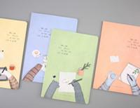 cadernos escola bonito venda por atacado-Material escolar A4 Notepads / Notebooks 4 Bookds por Set Padrão Bonito Impresso Cobre Notebooks em Muticolors Frete Grátis por Fedex