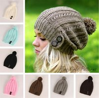 new style multicolor Girl Beanies women Winter Warm Crochet Beanie Winter  Knit Hats Hoods Casual Beanies T5C062 80d2209544e7