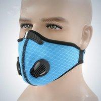 mascara negra magica al por mayor-Máscara de bicicleta transpirable a prueba de viento geométrico Naranja Negro Montar Magia 35g Pasta Unisex de protección azul sólido a prueba de polvo