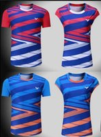 Wholesale korean xxl - 2018 New victor badminton shirts short-sleeved South Korean national team game jerseys men and women training sportswear,tennis t-shirt 1106
