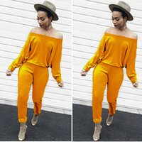 Wholesale yellow rompers for women for sale – dress Fashion rompers women jumpsuit off shoulder skinny sexy overalls for women solid macacao feminino