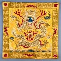 drachen stickerei patch großhandel-Vintage Square Dragon Stickerei Patches ethnischen Miao Patch Kleidungsstück Nähzubehör Kleidung Tasche Diy gestickte Blumen Dekoration