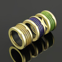 Wholesale Gold Filled Rings Prices - Best price New arrival 316L Stainless Steel Rings with blue and green and coffee nature stone for man and Women Rings Wedding Jewelry in 6#-