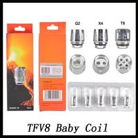 v8 ücretsiz toptan satış-TFV8 Bebek Bobin kafa V8 Bebek Değiştirme T8 T6 X4 Q2 TFV8 Için 0.4ohm 0.6ohm Bebek Tankı Standart Sürüm Ücretsiz Shiping